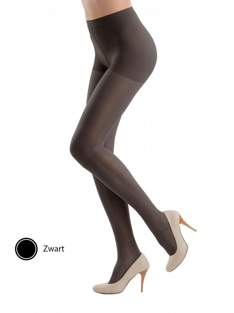 zwarte steunpanty 40 denier met massage broek