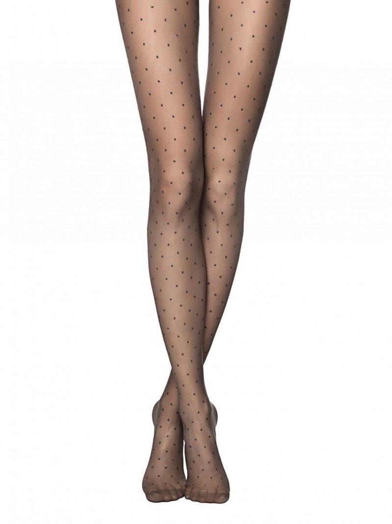 Conte Dots 20 denier panty met stippen zwart