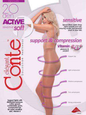 steunpanty 20 denier met compressie en massage broek