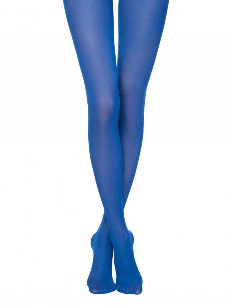50 denier microfiber panty in de kleur blue