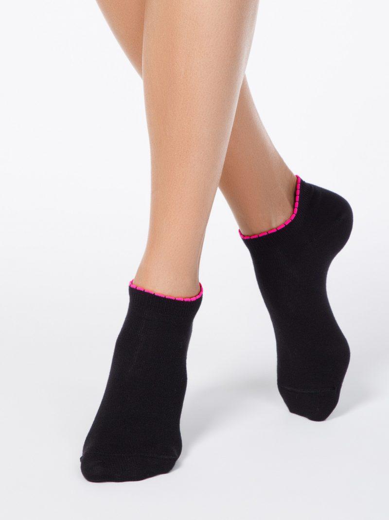 Korte damessokken Conte Active 041 anklet frill sock black