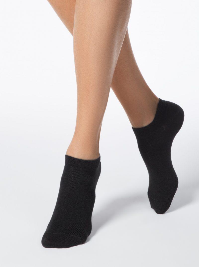 Dunne sneakersokken voor dames Conte Active zwart