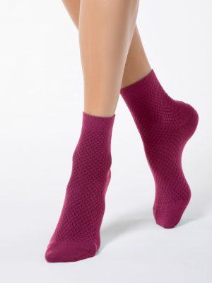 Half-hoge damessokken Conte Classic 061 honeycomb sock