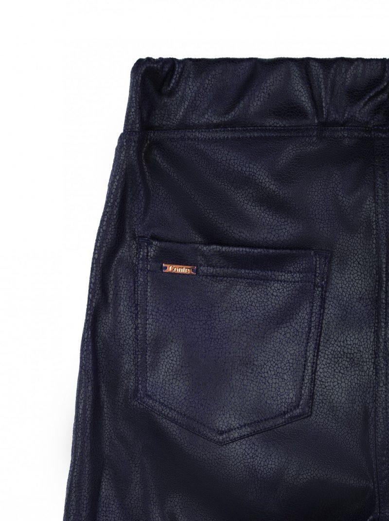 Dikke tregging met leatherlook effect in de kleur marino