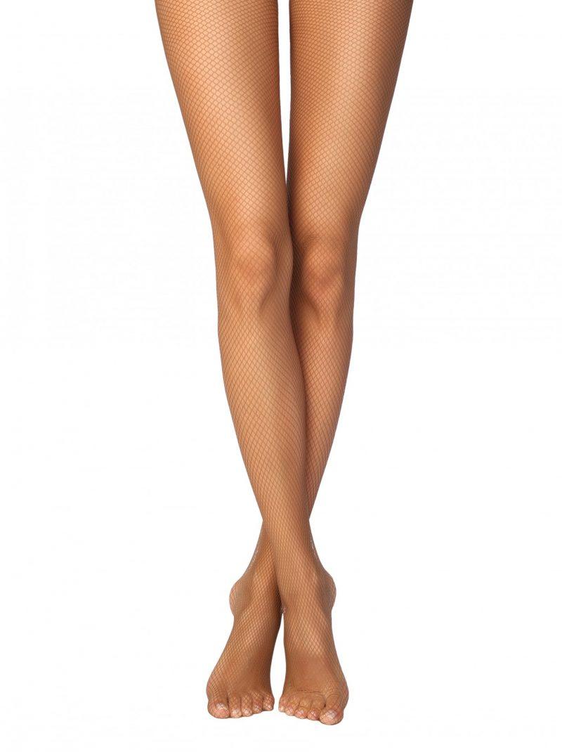 Conte rette micro fishnet panty bronz