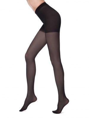 zwarte corrigerende panty 40 denier met verstevigde broek