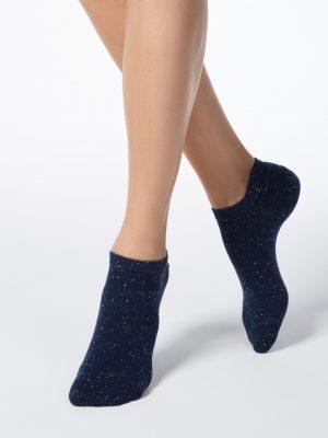Korte sneakersokken voor dames Conte Active pixels marino