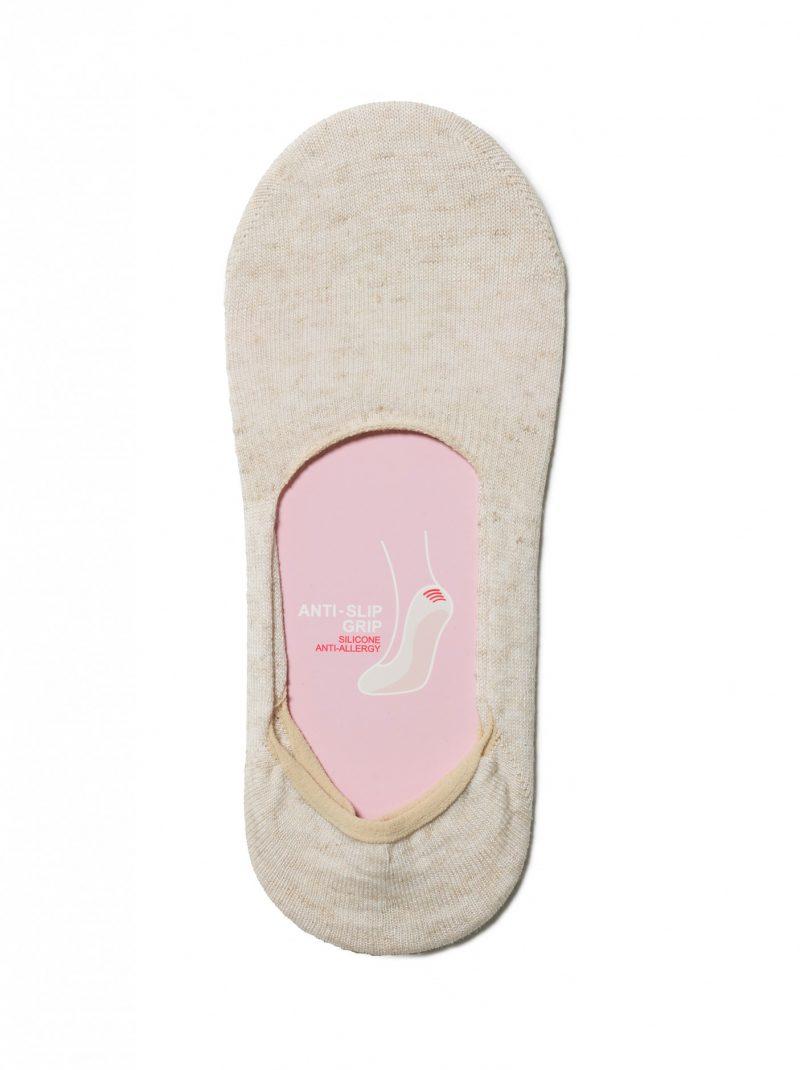 Katoenen voetjes Conte Classic in effen beige kleur