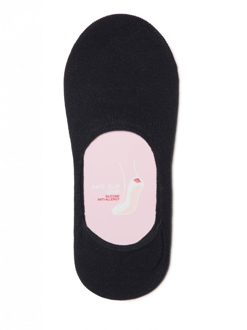 katoenen dames voetjes met siliconen anti-slip randen