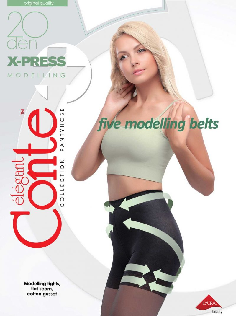Conte X-PRESS 20 den panty met corrigerende broek