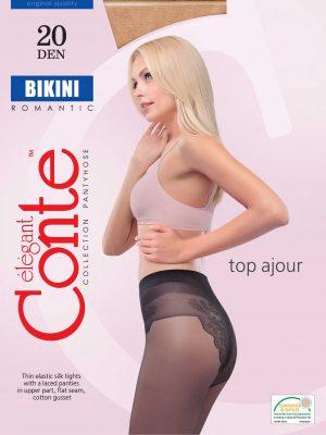 Conte Bikini 20 denier panty met bewerkt broekje