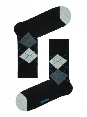 Herensokken ruitpatroon DIWARI HAPPY Argyle Blue