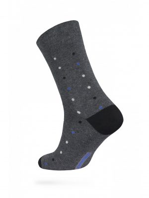 Herensokken DIWARI Happy Dots Dark Grey-Blue