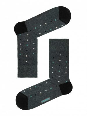 Herensokken DIWARI HAPPY Dots Turquoise