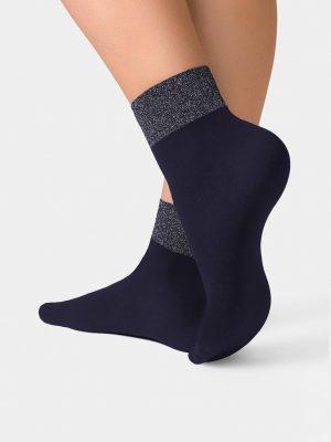 sokken glittertop Conte Lurex Band Marino