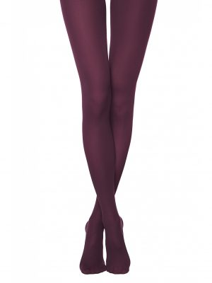 Conte Trendy 150 denier warme panty in kleur Burgundy