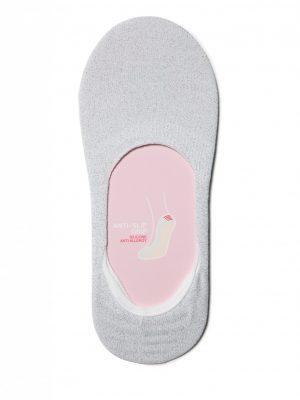Glitter voetjes Conte Classic Lurex Footlets Silver