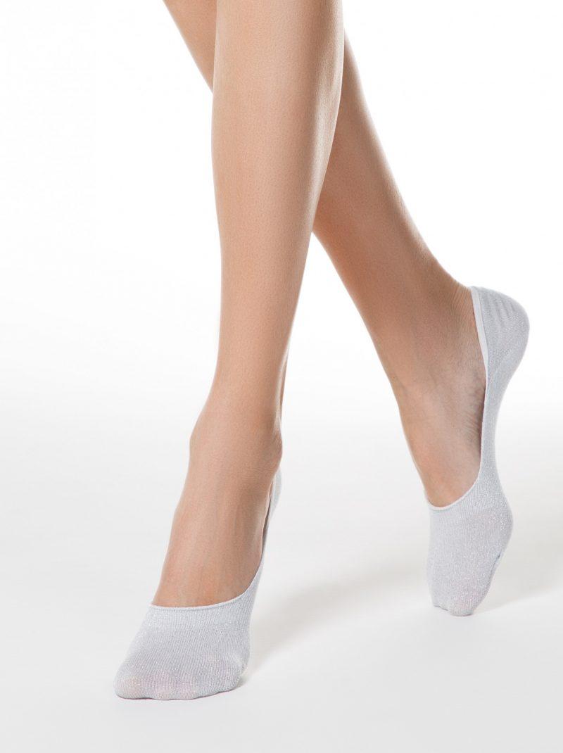 glitter voetjes lichtgrijs met siliconen anti-slip randen