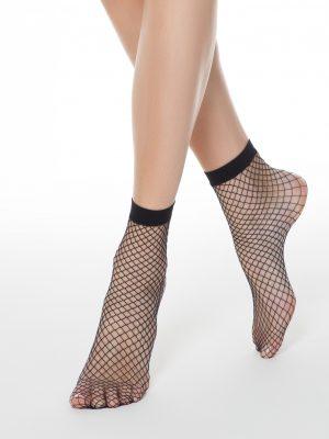 fishnet sokken zwart met grote gaten