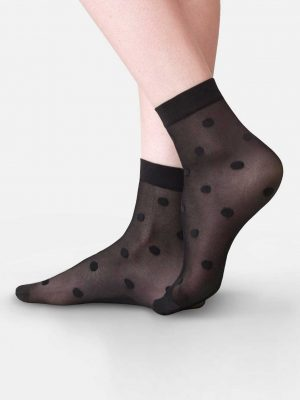 panty sokken met stippen zwart 20 denier