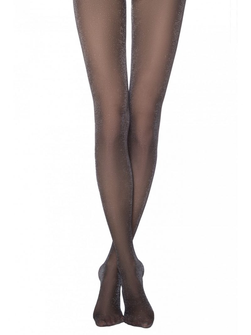 zwarte panty glitter 40 denier Conte Salon Lux