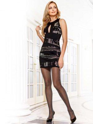 zwarte panty met glitter 40 denier Conte Salon Lux