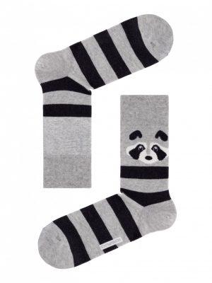 panda sokken heren grijs Diwari Happy 060