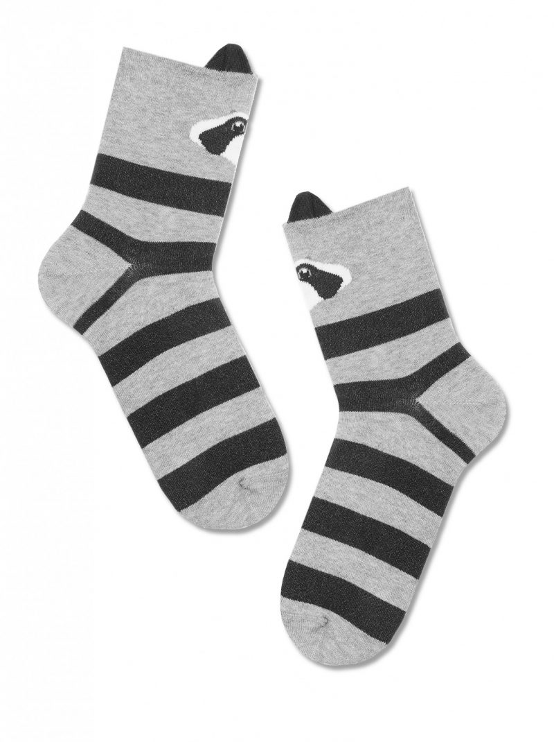 panda sokken voor dames lightgrijs Conte Classic 317