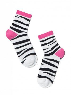 Vrolijke damessokken met zebra print Conte Classic 149