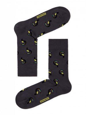 Vrolijke herensokken met toucans print