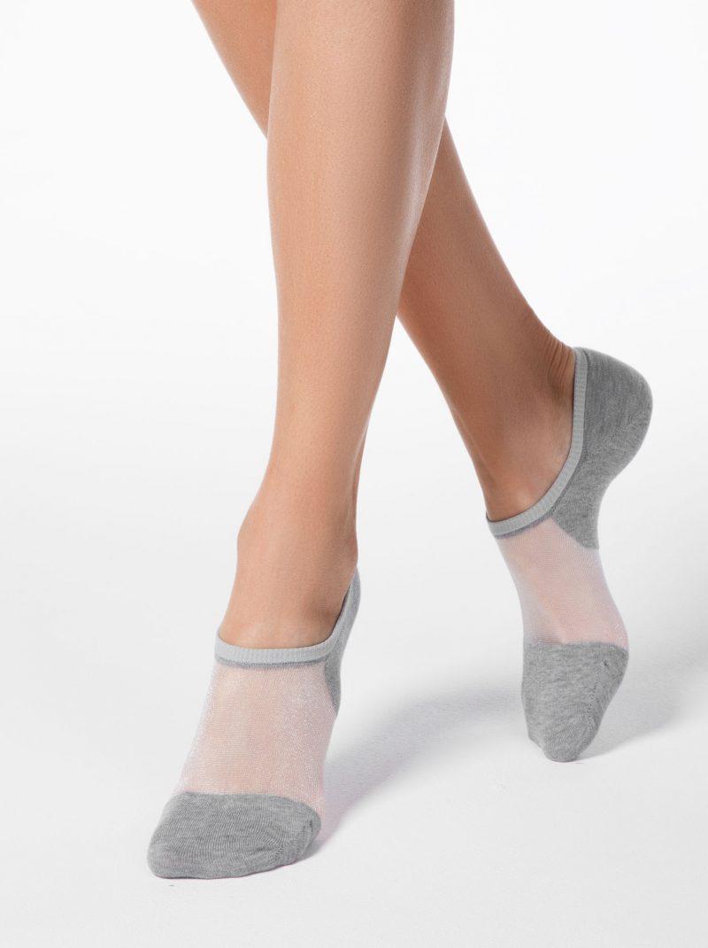 Sneaker voetjes van katoen met net details