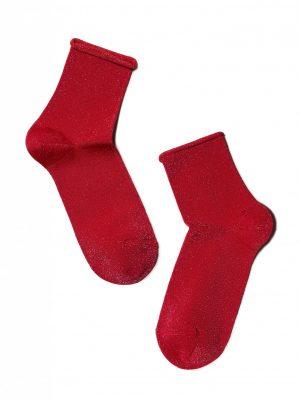 glitter sokken rood voor dames
